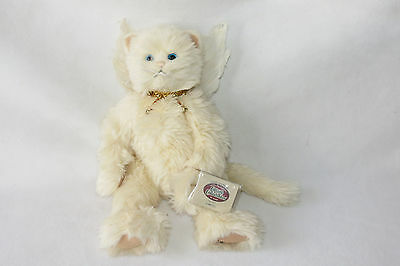 Purrfect Kitty Angel Wings Beige Cat Cottage Collectibles NWT GANZ First Edition