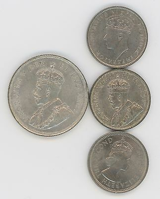4 Coins From British East Africa, 1924 Shilling, 1922, 1937 & 1963 1/2 Shilling