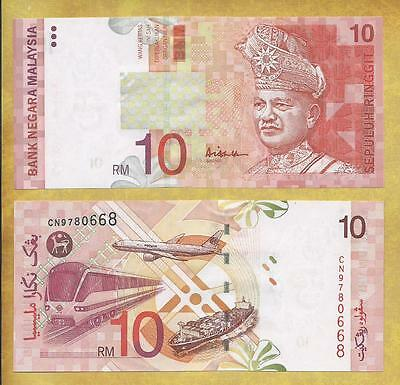 Malaysia 10 Ringgit P-42c Unc Currency Banknote ***USA SELLER***