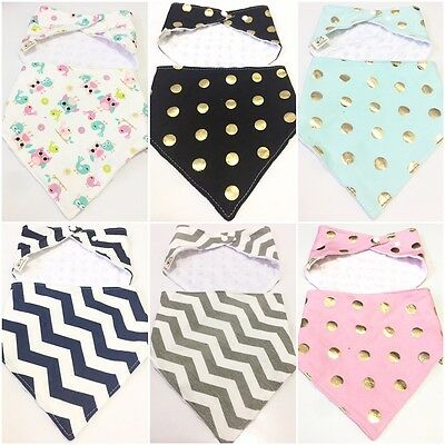 Aus Baby Girls Boys Kids Triangle Head Scarf Bandana Bibs SafeTowel Dribble Feed