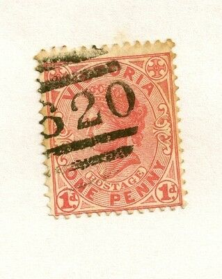 1901 Victoria Australia Red 1d Stamp One Penny Hinged