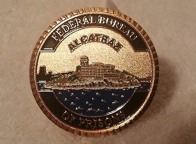 Alcatraz Federal Prison Challenge Coin, Large 2 inch coin, First run numbered