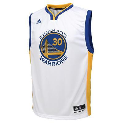 Golden State Warriors NBA Stephen Curry Youth Road Replica Jersey White #354237