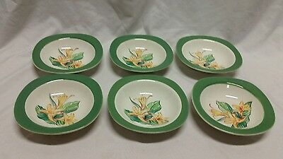 6 Taylor Smith Taylor Conversation ~ Day Lily~ Fruit / Dessert Bowls