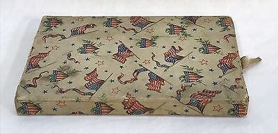 Vintage WWII American Patriotic Souvenir Box Stars & Stripes Shields Flags