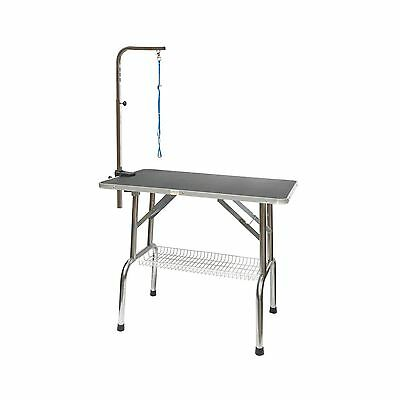 Go Pet Club GT-201 30-Inch Heavy Duty Stainless steel Pet Dog Grooming Table ...