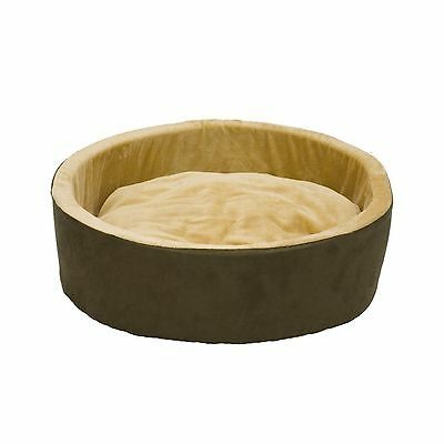 K&H Manufacturing Thermo-Kitty Heated Cat Bed 20-Inch Mocha