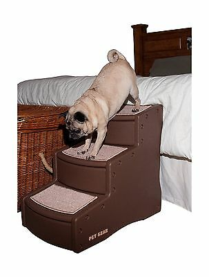 Pet Gear Easy Step 3-Step Pet Stairs for Cats and Dogs up to 150-Pound Chocol...