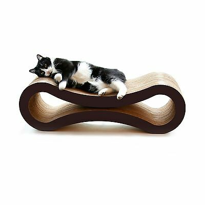PetFusion Ultimate Cat Scratcher Lounge (Walnut Brown). [Superior Cardboard &...