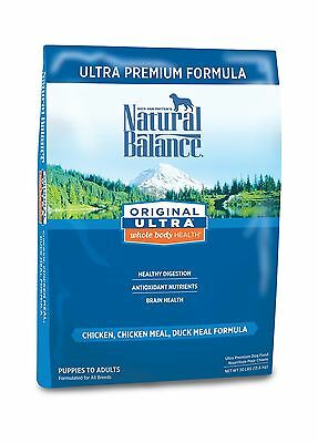 Natural Balance Dry Dog Food Ultra Premium Formula 30-Pound Bag chicken