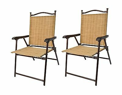 Greendale Home Fashions CHR-2250 Outdoor Sling Back Chairs Set of 2