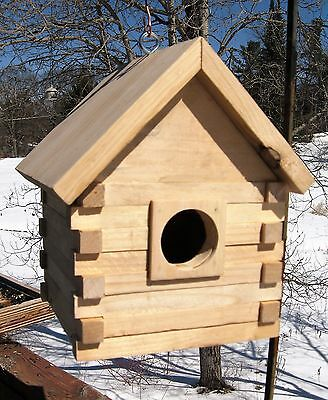 Finch Birdhouse, Rustic Hand Crafted Log Cabin