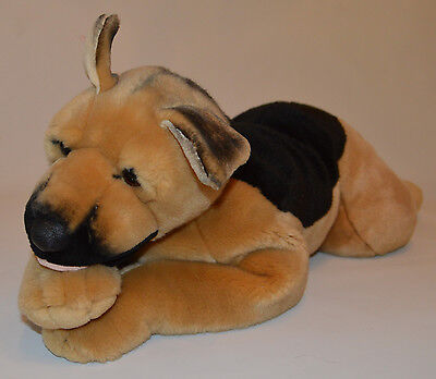 """Animal Alley Plush 30"""" German Shepherd Dog Black and Tan Puppy 1999 Excellent"""
