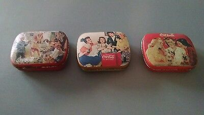 3 Coca Cola Pocket Tins