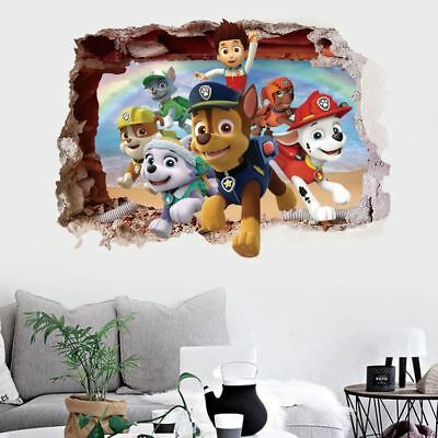 PAW Patrol Removable Wall Stickers Kids Nursery Decal Boys Gift Home Art Mural