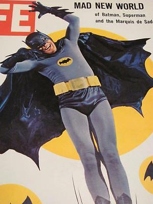 Vintage LIFE Magazine Superhero BATMAN: ADAM WEST Issue MARCH 11, 1966 (RIP)