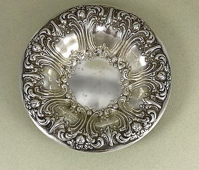 Antique Sterling Silver Frank M. Whiting & Co. Repousee Bon Bon Dish