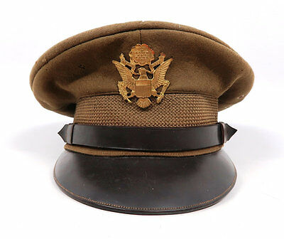 WW2 US Officer visor cap uniform tunic hat dress military Army Air Force corp
