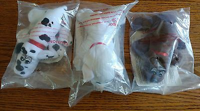 """Pound Puppies Tonka VTG Lot of 3Babies 7"""" Plush in orig.bags w/ papers EXCELLENT"""