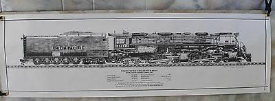 Union Pacific #3985 / 4-6-6-4 Challenger Train Pencil Drawing