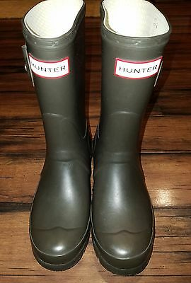 HUNTER Rain Boots Brown Mid-Calf Women's 6