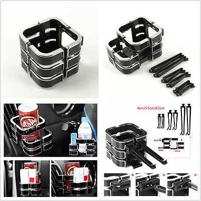 Universal Black Car Auto Air Outlet Drink Cup Holder Phone Sundries Holder Stand