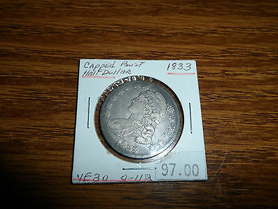1833 50C Capped Bust Half Dollar Very Fine