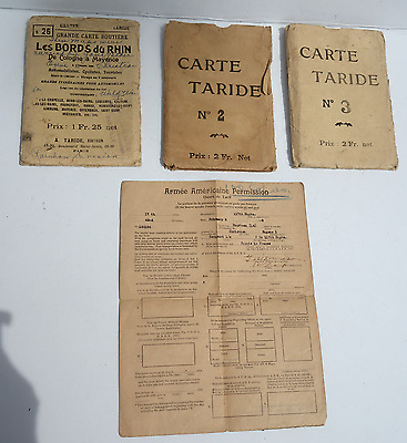 WW1 U.S.Army Travel Papers & Maps, Post-War Leave