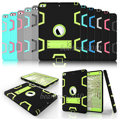 Shockproof Heavy Hard Stand Case Cover For iPad 2 3 4 /Mini /Air /Pro/iPad 2017