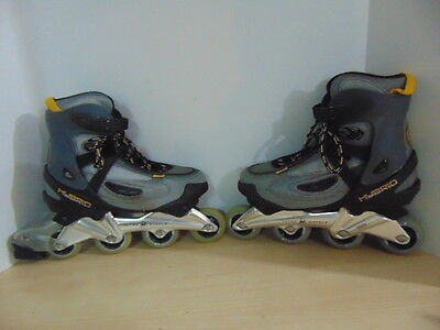 Inline Roller Skates Mens Size 9 Ultra Wheels Hybrid Grey Yellow Black