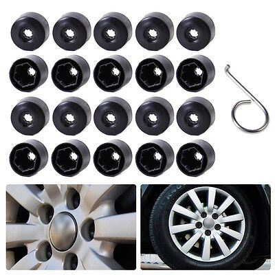 20Pcs VW Golf MK4 Passat Audi of Wheel Nut Bolt Tire Screw Cover Cap 17mm