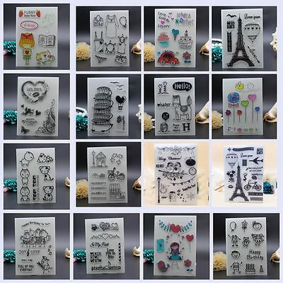 Handmade Colorful Transparent Stamps Scrapbooking Silicone Rubber DIY Crafts