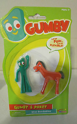 Collectible Gumby And Pokey Mini Bendables Figurs