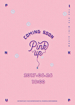 APINK - Pink Up (6th Mini Album) [A ver.] CD+Folded Poster+Free Gift+Tracking no