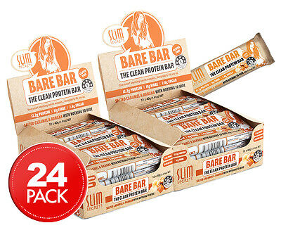 2 x Slim Secrets Bare Bars Salted Caramel & Banana 40g 12pk