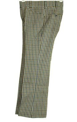 Vtg 70s MOD WOOL CHECK Glam Golf Hippy Pants Slacks Andewrson Little (30 X 30.5)