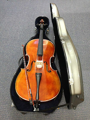 4/4 Solid Spruce Top,Flame Maple back & Sides Cello+Deluxe Fiberglass Hard Case