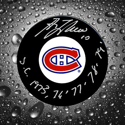 Guy Lafleur Montreal Canadiens SC Years Autographed Puck