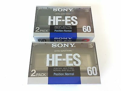 Lot de 2 Pack de 2 cassettes SONY HF-ES 60 Made in France NEW SEALED TAPE ( 4 )