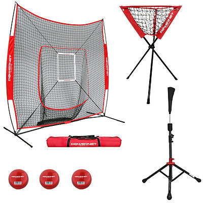 Deluxe Pro Bundle - Portable Baseball Net / Softball Net / Cricket Net