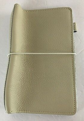 Foxy Fix Moccasin Cream Leather Wide  Size No. 7 Travelers Notebook