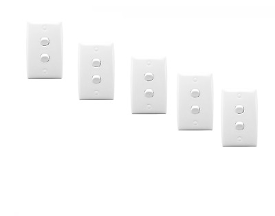 Clipsal 32Va 5-Pack Flush Switch Two Gang Double Light/power Switch Wall 10A/240