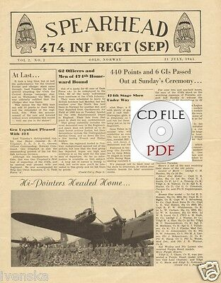 CD File 8 issues Spearhead 474 Infantry Regiment Oslo Norway 99th Battalion PDF
