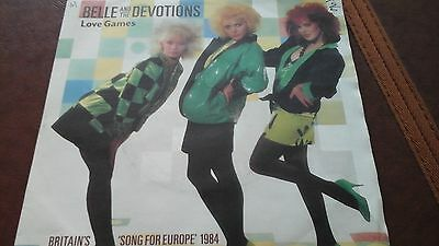 """BELLE and the DEVOTIONS 7""""single LOVE GAMES 1984"""