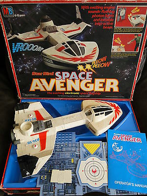 Boxed MB Games Electronics Starbird Space Avenger working sounds
