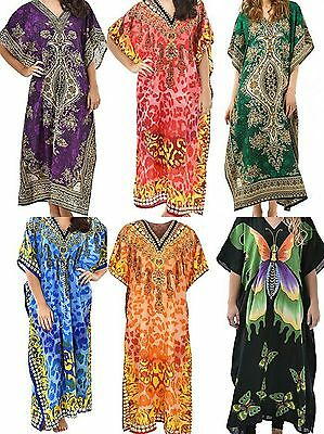Wholesale 6 pc Assorted colours Ladies Long Kaftan dresses African Style Joblot