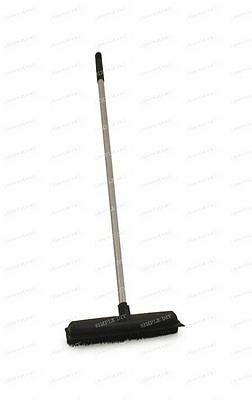 Heavy Duty Black Rubber Broom Pet Hair Brush with Solid 1.2m Handle NEW UK