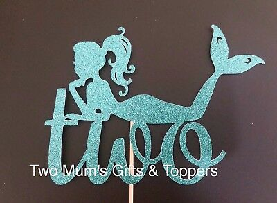 Custom Mermaid Age Cake Topper - Number Cake Topper - The Little Mermaid  300GSM