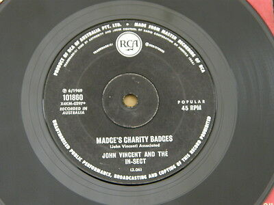 """IN-SECT JOHN VINCENT MADGE'S CHARITY RCA orig OZ GARAGE ROCK FUZZ 7"""" 45 HEAR"""
