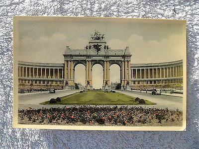 Old Postcard - Brussels, Belgium - 1956
